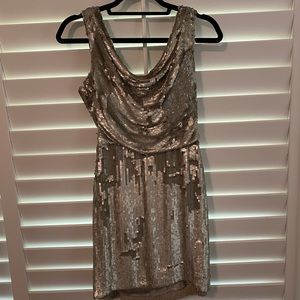 Parker Silver Sequin Dress SMALL